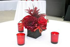 small red and black centerpiece centerpiece for cocktail t u2026 flickr
