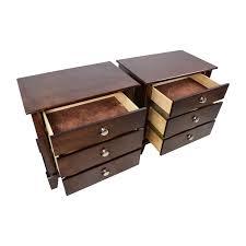 71 off solid dark wood nightstand set of two storage