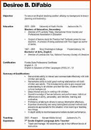 Resume Objective Statements Examples by Resume Objective Teaching Position 40 Modern Teacher Resumes Free