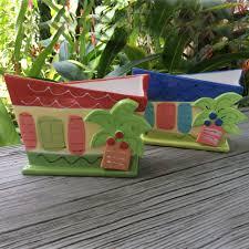 beach house napkin holder susan painter pottery tropical florida