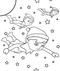 elf shelf coloring pages getcoloringpages