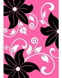 Hibiscus Rug Fall Is Here Get This Deal On T1014 Pink Black White 5 U00272 X 7 U00272