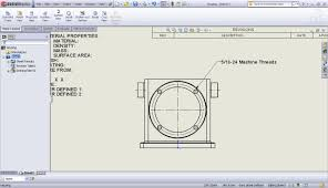 using cosmetic threads in solidworks parts and drawings