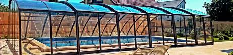 retractable swimming pool enclosure ravena sunrooms enclosures com