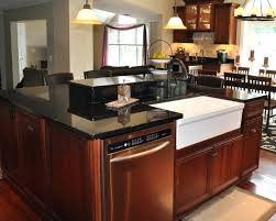 cabinet black kitchen island with marble top black kitchen
