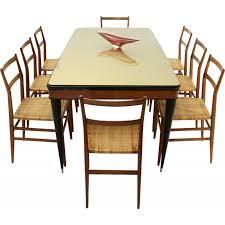 vintage glass top dining table italian vintage dining table with glass top design market
