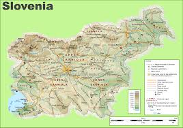 Physical Map Of Canada by Slovenia Maps Maps Of Slovenia