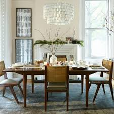Brown And Brass Expandable Dining Table - West elm emmerson industrial expandable dining table