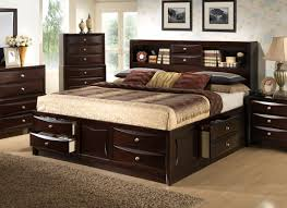 Platform Bed King With Storage Solid Wood Storage Bed King Storage Decoration