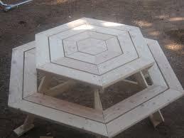 Hexagon Picnic Table Hexagon Picnic Table Carpentry 4 Christ