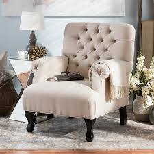 Home Decorators Accent Chairs Home Decorators Collection Marais Solid Ivory Linen Accent Chair