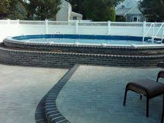 semi inground pools with decks high rise semi inground pool
