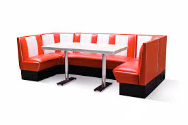 diner style booth table bel air hollywood u booth set 130 x 270 x 130 lawton imports