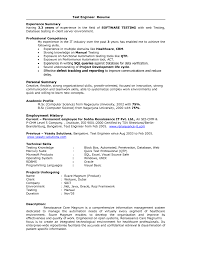 sle resume format for experienced software engineer performance test engineer sle resume 10 image gallery of