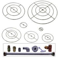 fire pit parts shop spotix round hpc match lit fire pit burner kits