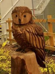 vandals use a chainsaw to owl sculpture from failsworth