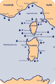 Corsica Map Corsica And Sardinia In English Corsica En Sardinië Info