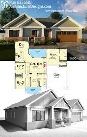 plan 62565dj craftsman ranch house plan architectural design