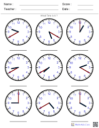 worksheets on telling time free worksheets library download and