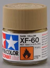 81760 acrylic mini xf 60 dark yellow 10ml bottle