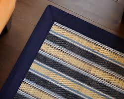 Bamboo Area Rugs Mountain Hamptons Blue U0026 White Stripe 7x10 Bamboo Area Rug