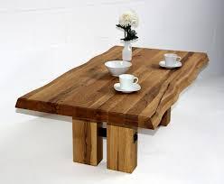 Wohnzimmertisch Natur Couchtisch 135x47x75cm Natürliche Baumkante Tischplattenstärke