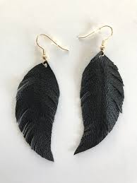 black feather earrings black feather earrings the mustard seed marketplace