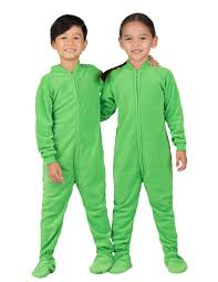 emerald green toddler fleece footed pjs toddler pajamas one
