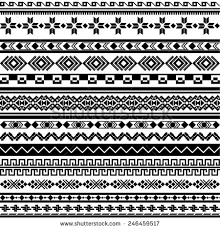 vector illustration set ornaments tribal slavic stock vector