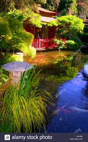 japanese garden tranquil japanese building ornaments statues water