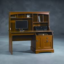 sauder graham hill computer desk with hutch autumn maple