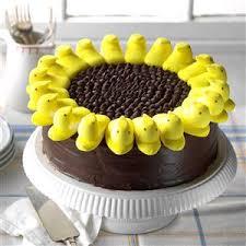 cake photos peeps sunflower cake recipe taste of home