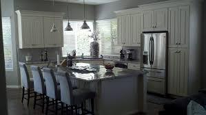expansive kitchen island seats four