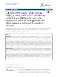 self harm intervention family therapy shift a study protocol