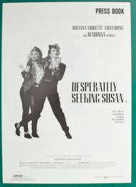 Seeking Poster Desperately Seeking Susan P I Original 6 Page Cinema