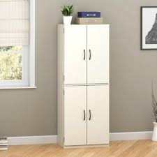 Tall Metal Storage Cabinet Kitchen White Storage Cupboard Corner Pantry Cabinet Metal