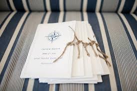 nautical wedding programs nautical nantucket wedding