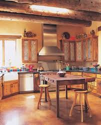 Southwestern Kitchen Cabinets Southwestern Kitchen With Punched Tin Cabinet Door The