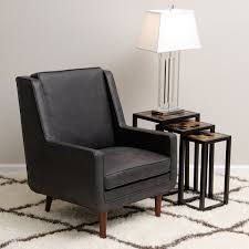 Black Leather Accent Chair Amazing Of Black Leather Accent Chair Moss Oxford Leather Black