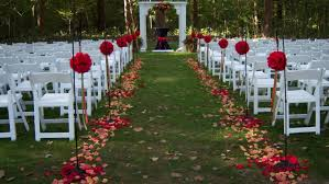 wedding beautiful garden outdoor wedding simple decorations