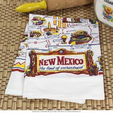 New Mexico State Map by New Mexico State Map Souvenir Vintage Dishtowel Souvenir