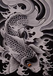 Black And Grey Koi Carp - koi carp chris garver pencil and in color koi carp