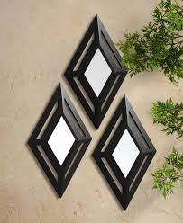 home decor wall mirrors elements piece diamond mirror set home decor wall mirrors arafen