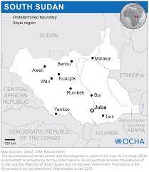Map Of Sudan South Sudan Reliefweb