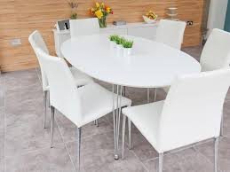 White Dining Room Sets Contemporary Oval Dining Table Ideas Home Design By John