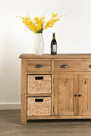 Small Sideboard With Wine Rack Hartford Large Sideboard With Wine Rack U0026 Baskets 60 15 Papaya
