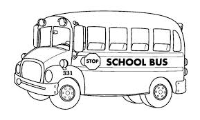 coloring cute bus color cool coloring pages