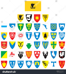 County Flags Flag Coat Arms Nordland County Norway Stock Vector 236978620