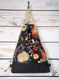 drawstring canvas backpack rosenrip