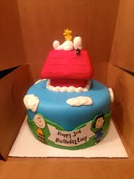 snoopy cakes happy birthday lou polka dot apron